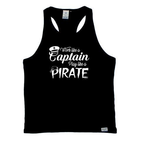 Ocean Bound Sailing Vest - Work Like A Captain Play Like A Pirate - Bella Singlet Top