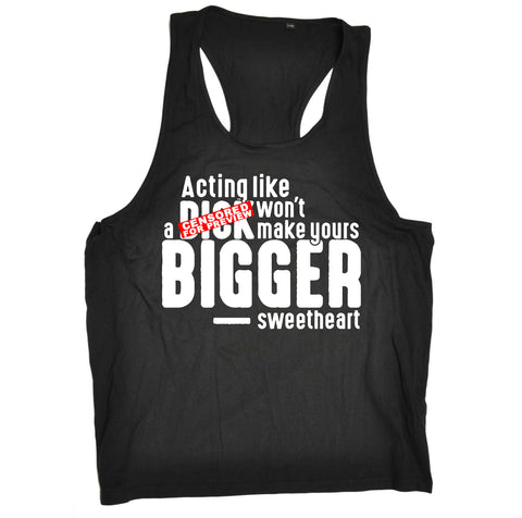 123t Funny Vest - Acting Like A Dck - Bella Singlet Top