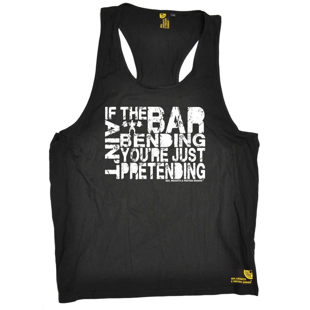 Sex Weights and Protein Shakes Gym Bodybuilding Vest - If The Bar Aint Bending - Bella Singlet Top
