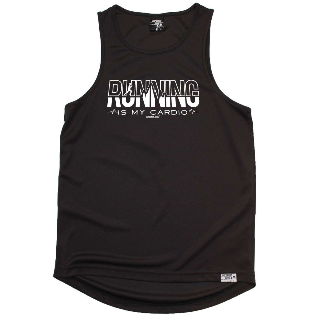 Personal Best Running Vest - Running Is My Cardio - Dry Fit Performance Vest Singlet