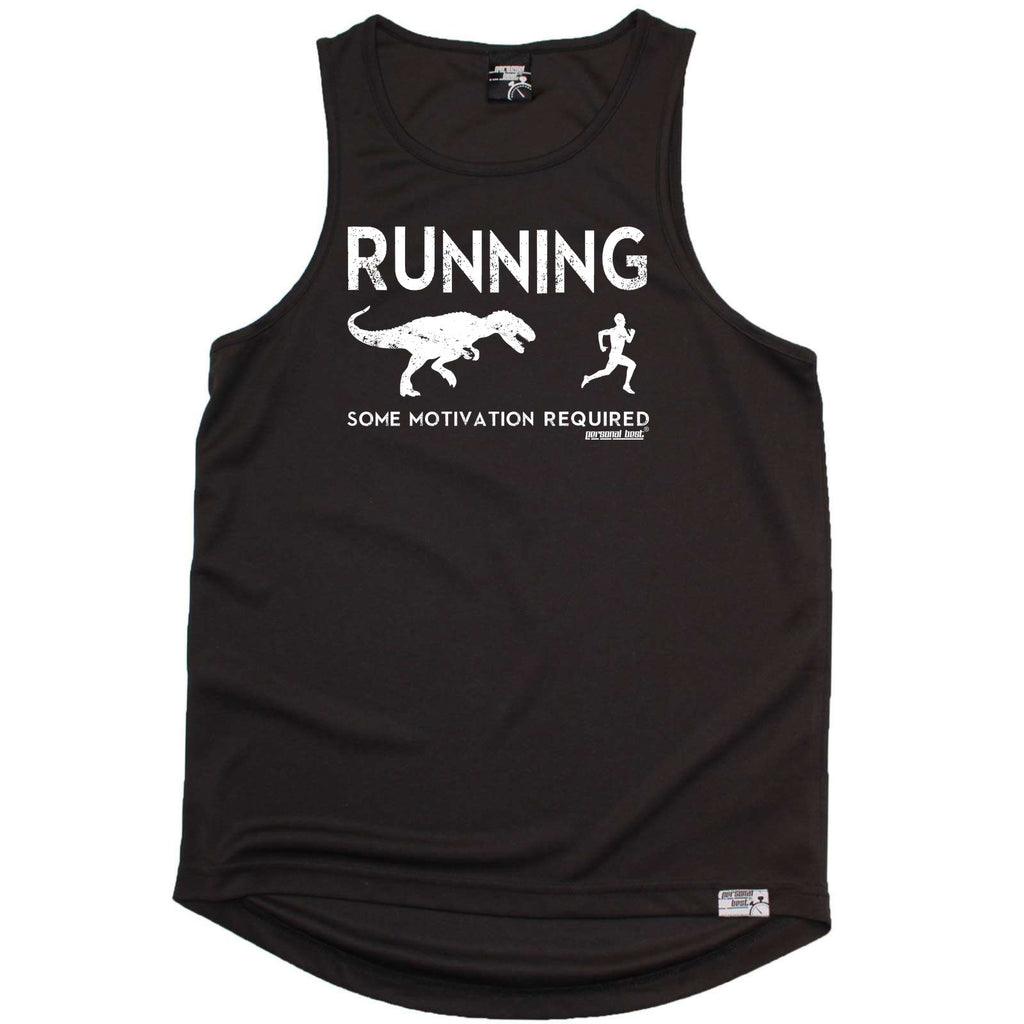 Personal Best Running Vest - Running Some Motivation Required - Dry Fit Performance Vest Singlet