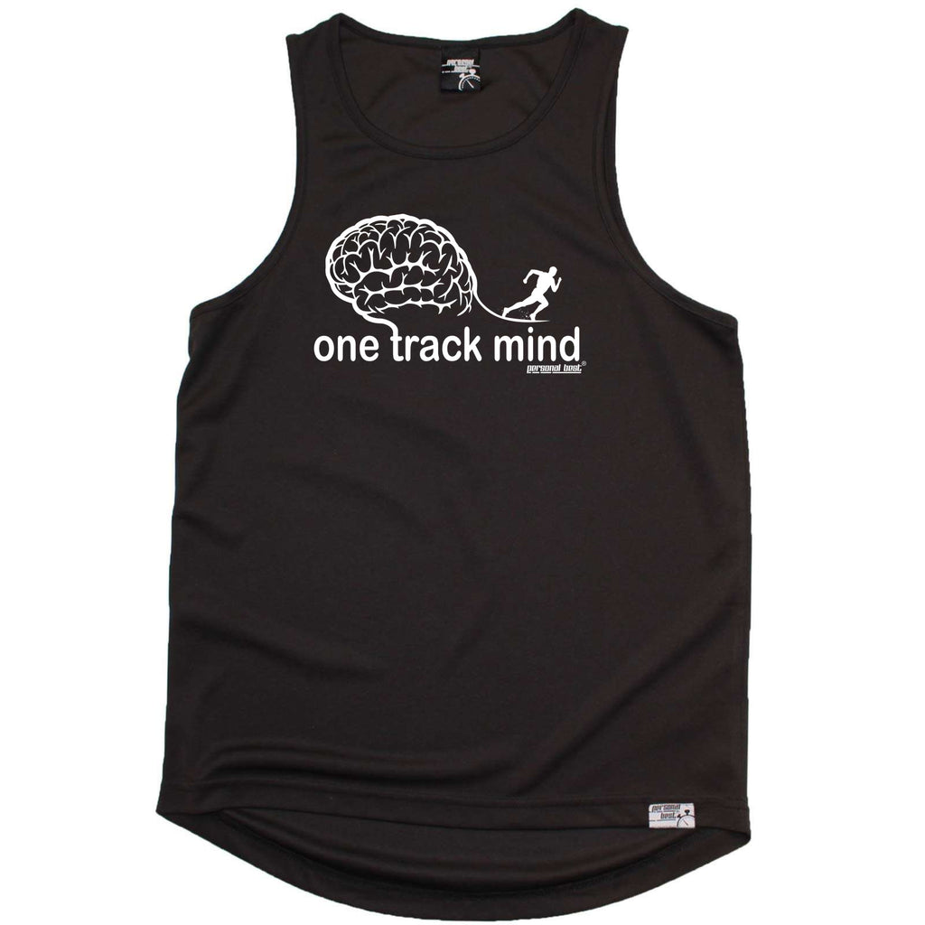 Personal Best Running Vest - One Track Mind - Dry Fit Performance Vest Singlet