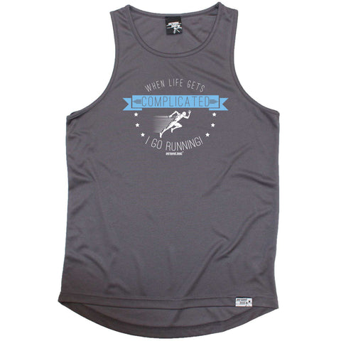 Personal Best Running Vest - When Life Gets Complicated - Dry Fit Performance Vest Singlet