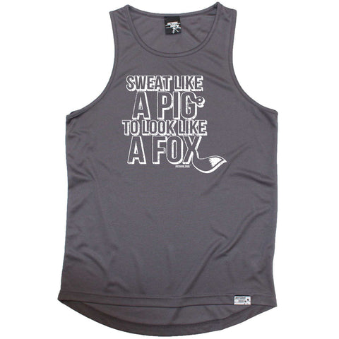 Personal Best Running Vest - Sweat Like A Pig - Dry Fit Performance Vest Singlet