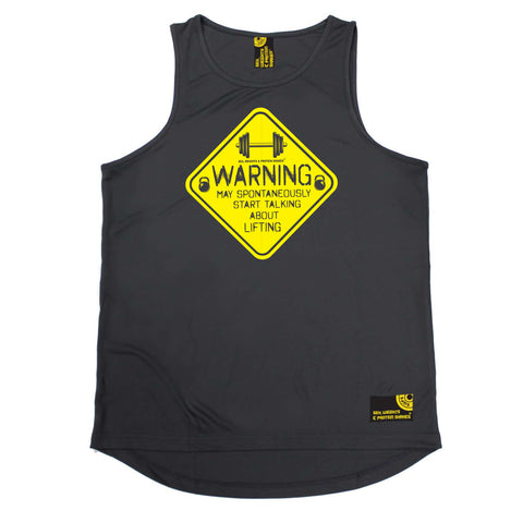 Sex Weights and Protein Shakes Gym Bodybuilding Vest - Warning Start Talking Lifting - Dry Fit Performance Vest Singlet