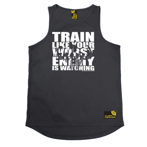 Sex Weights and Protein Shakes Gym Bodybuilding Vest - Train Like Your Worst Enemy - Dry Fit Performance Vest Singlet