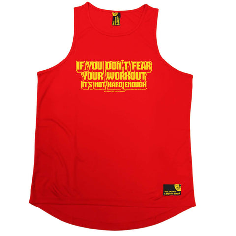 Sex Weights and Protein Shakes Gym Bodybuilding Vest - Yellow If You Dont Fear Your Work Out - Dry Fit Performance Vest Singlet