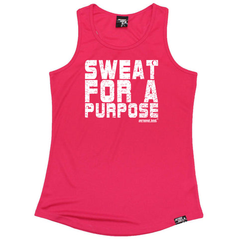 Personal Best Womens Running Vest - Sweat For A Purpose - Dry Fit Performance Vest Singlet