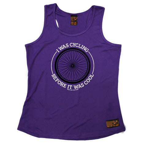 Ride Like The Wind Womens Cycling Vest - Wheel I Was Cycling Before It Was Cool - Dry Fit Performance Vest Singlet