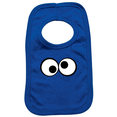 123t Funny Baby Bib - Googley Eyes - Toddler Dinner Food Napkin