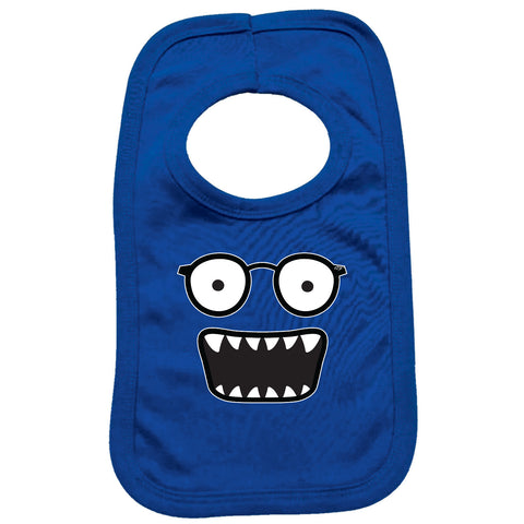 123t Funny Baby Bib - Glasses Monster - Toddler Dinner Food Napkin