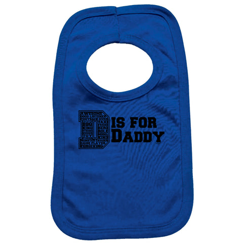 123t Funny Baby Bib - D Is For - Toddler Dinner Food Napkin