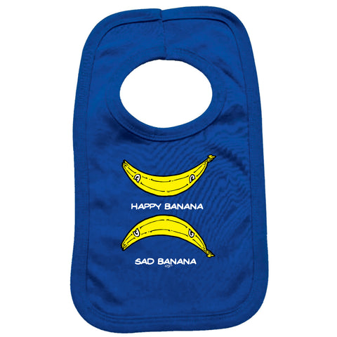 123t Funny Baby Bib - Happy Banana Sad Banana - Toddler Dinner Food Napkin
