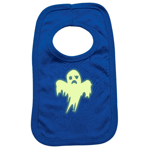 123t Funny Baby Bib - Ghost Glow In The Dark - Toddler Dinner Food Napkin