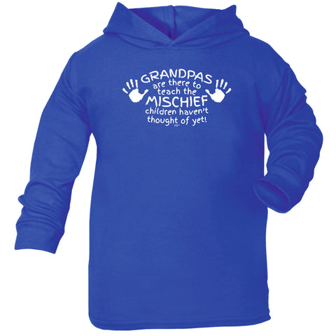 123t Baby Funny Hoodie - Grandpas Are There To Teach The Mischief - Babies Cotton Hoody Hoodie Jumper
