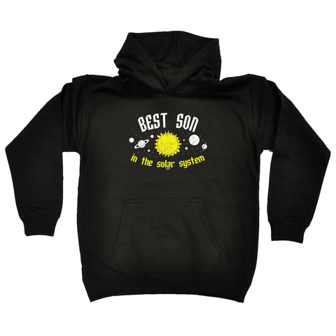 123t Kids Funny Hoodie - Best Son In The Solar System - Childrens Hoody Hoodie Jumper