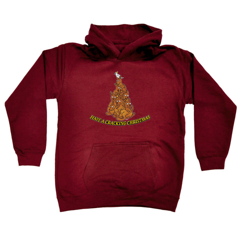 123t Kids Funny Hoodie - Have A Cracking Christmas - Childrens Hoody Hoodie Jumper