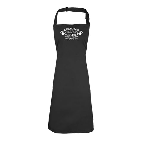 123t Funny - Grandpas Are There To Teach The Mischief - Kids Kitchen Cooking Chef Apron