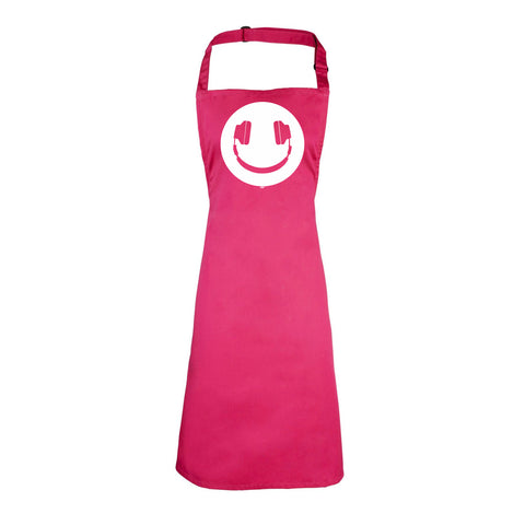 123t Funny - Headphone Dj Smile - Kids Kitchen Cooking Chef Apron