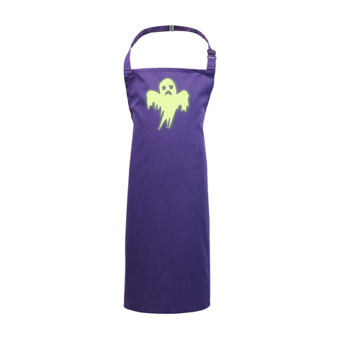 123t Funny - Ghost Glow In The Dark - Kids Kitchen Cooking Chef Apron