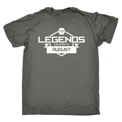 123t Men's Legends Are Born In August Funny T-Shirt