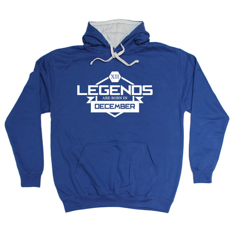 123t Legends Are Born In December Funny Hoodie