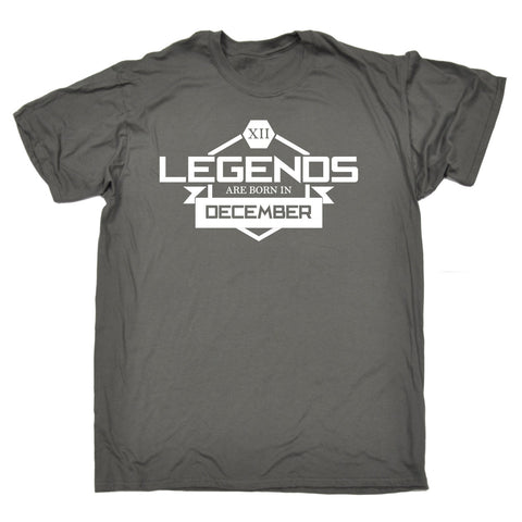 123t Men's Legends Are Born In December Funny T-Shirt