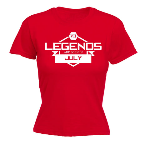 123t Women's Legends Are Born In July Funny T-Shirt