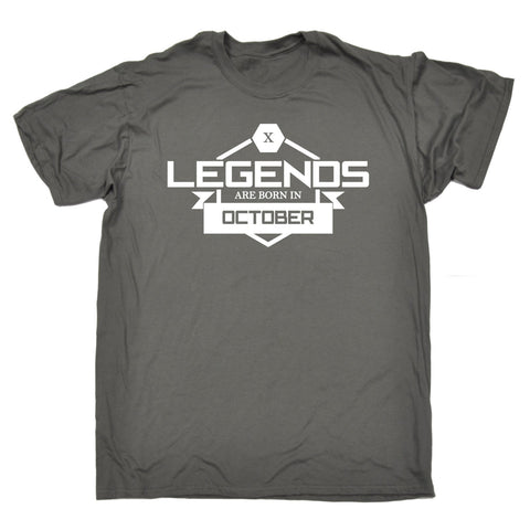 123t Men's Legends Are Born In October Funny T-Shirt
