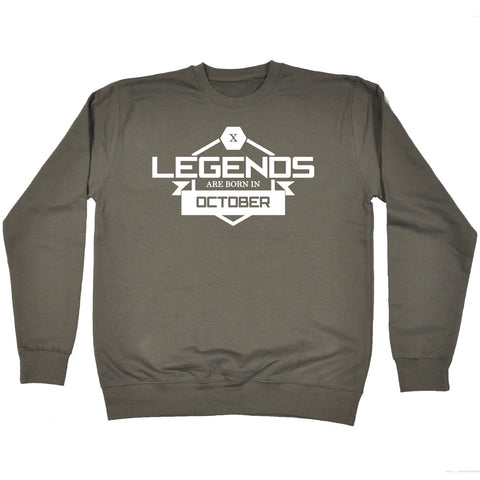 123t Legends Are Born In October Funny Sweatshirt