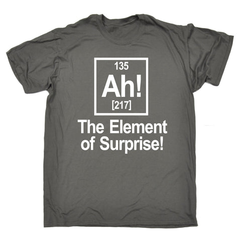 123t Men's Ah! The Element Of Surprise Funny T-Shirt