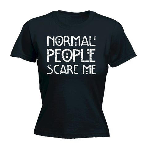 123t Women's Normal People Scare Me Funny T-Shirt