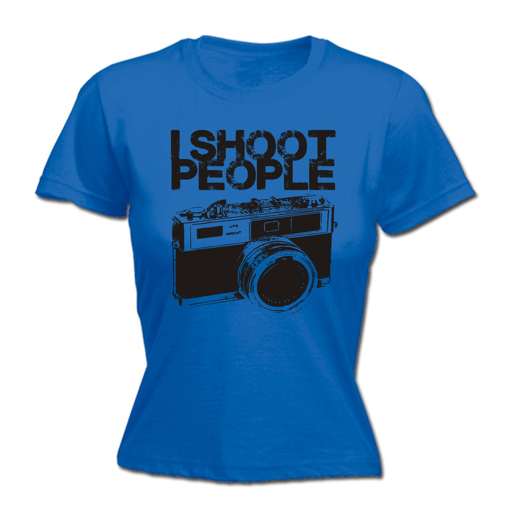 123t Women's I Shoot People Funny T-Shirt