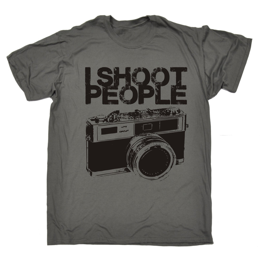 123t Men's I Shoot People Funny T-Shirt, 123t