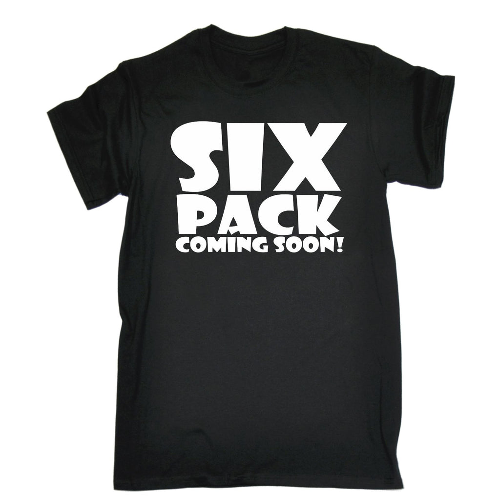 123t Men's Six Pack Coming Soon Funny T-Shirt