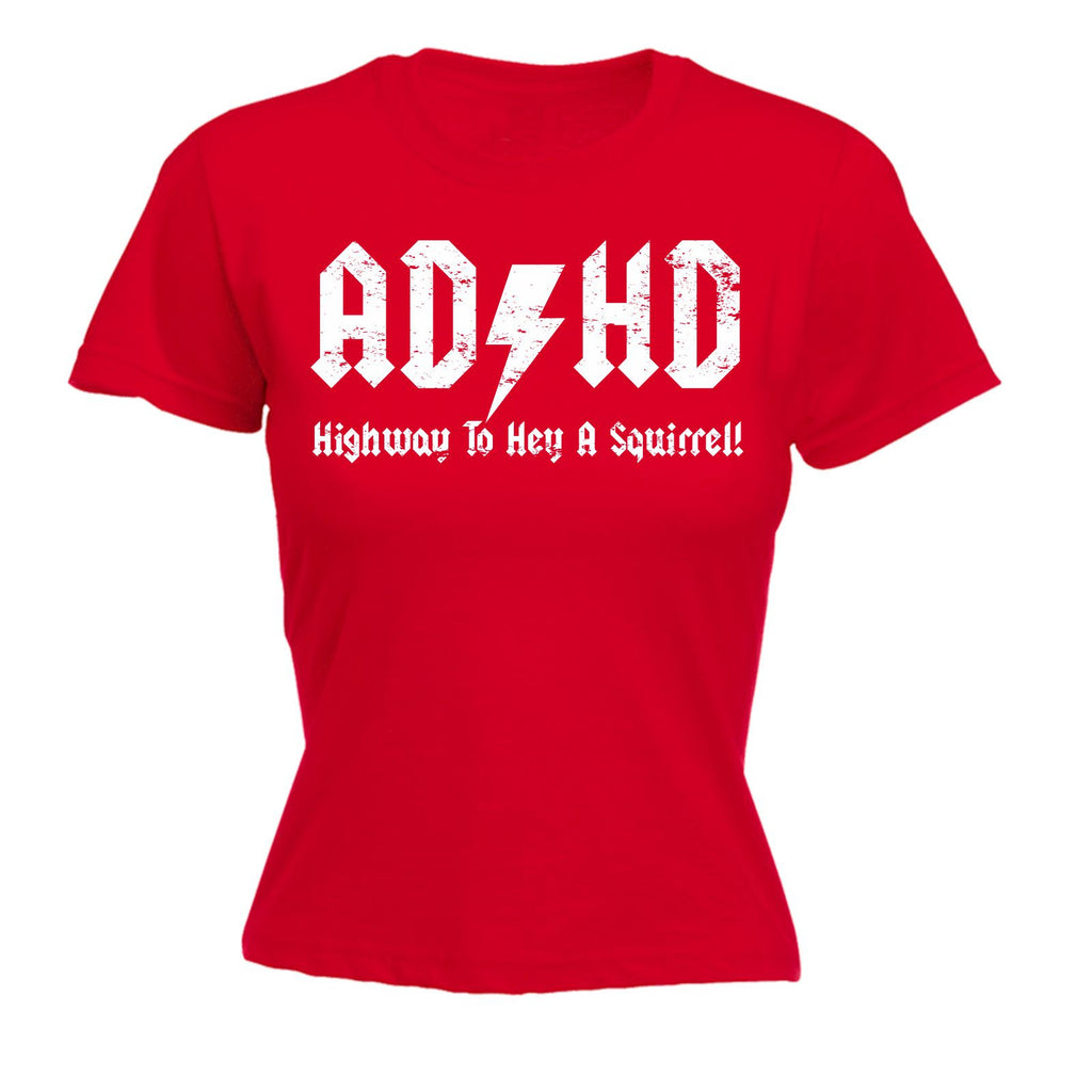c640729b9 123t Women's ADHD Highway To Hey A Squirrel - FITTED T-SHIRT Funny Christmas  Casual ...