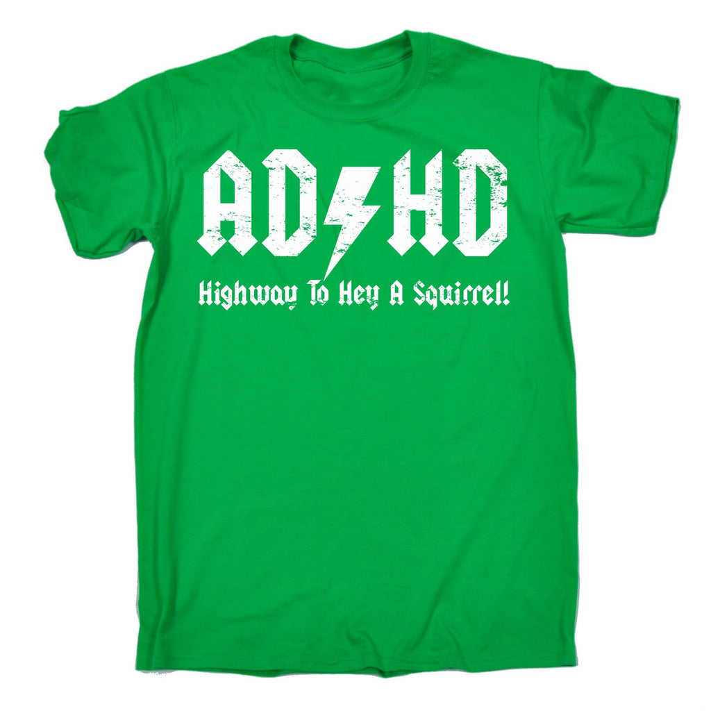 bd85d3272 ... 123t Men's ADHD Highway To Hey A Squirrel T-SHIRT Funny Christmas  Casual Birthday Tee ...