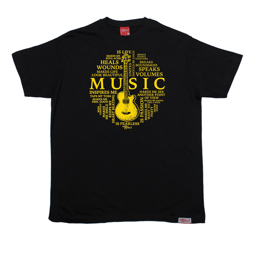 Banned Member Men's Music Is My Life Guitar Design Guitarist T-Shirt
