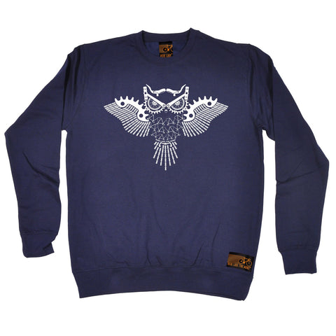 Ride Like The Wind Night Rider Owl Chain Design Cycling Sweatshirt
