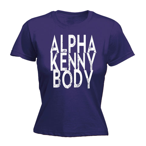 123t Women's Alpha Kenny Body Funny T-Shirt