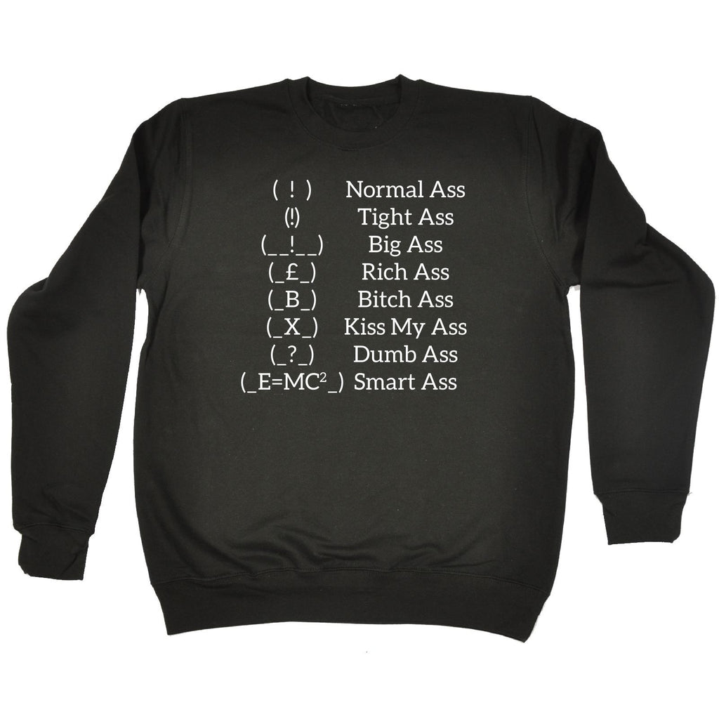 123t Ass Types Funny Sweatshirt, 123t