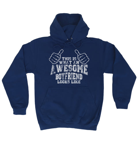 123t This Is What An Awesome Boyfriend Looks Like Funny Joke Girlfriend For Him Birthday BF Partner HOODIE