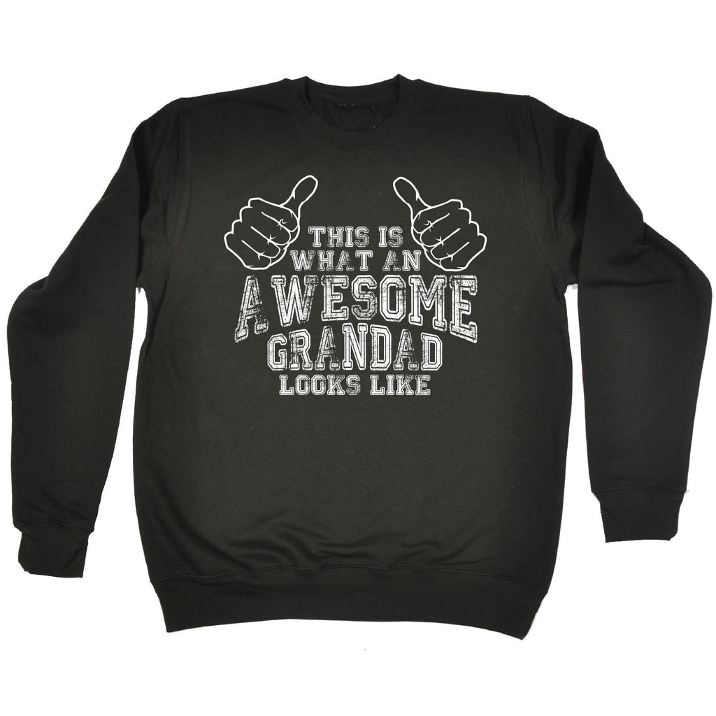 123t This Is What An Awesome Grandad Looks Like Funny Sweatshirt