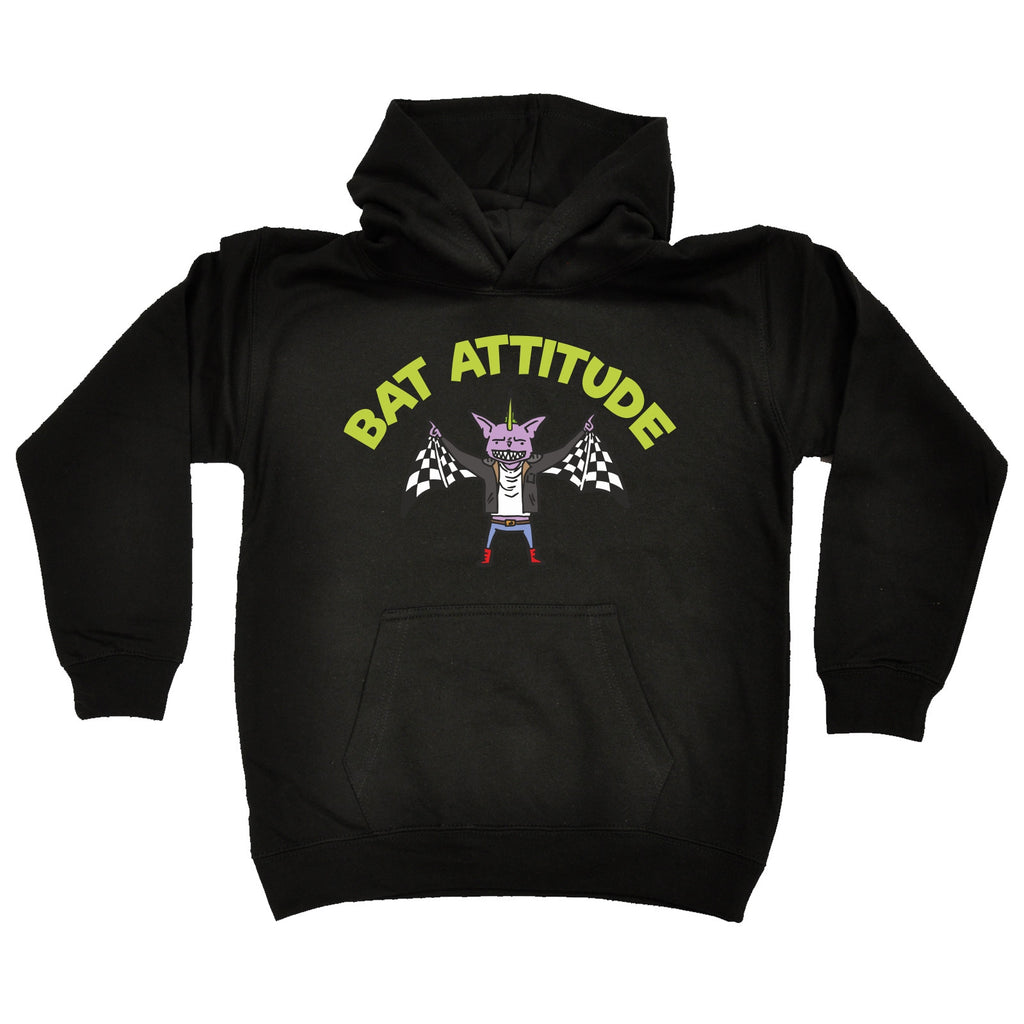 123t Kids Bat Attitude Funny Hoodie Ages 1-13