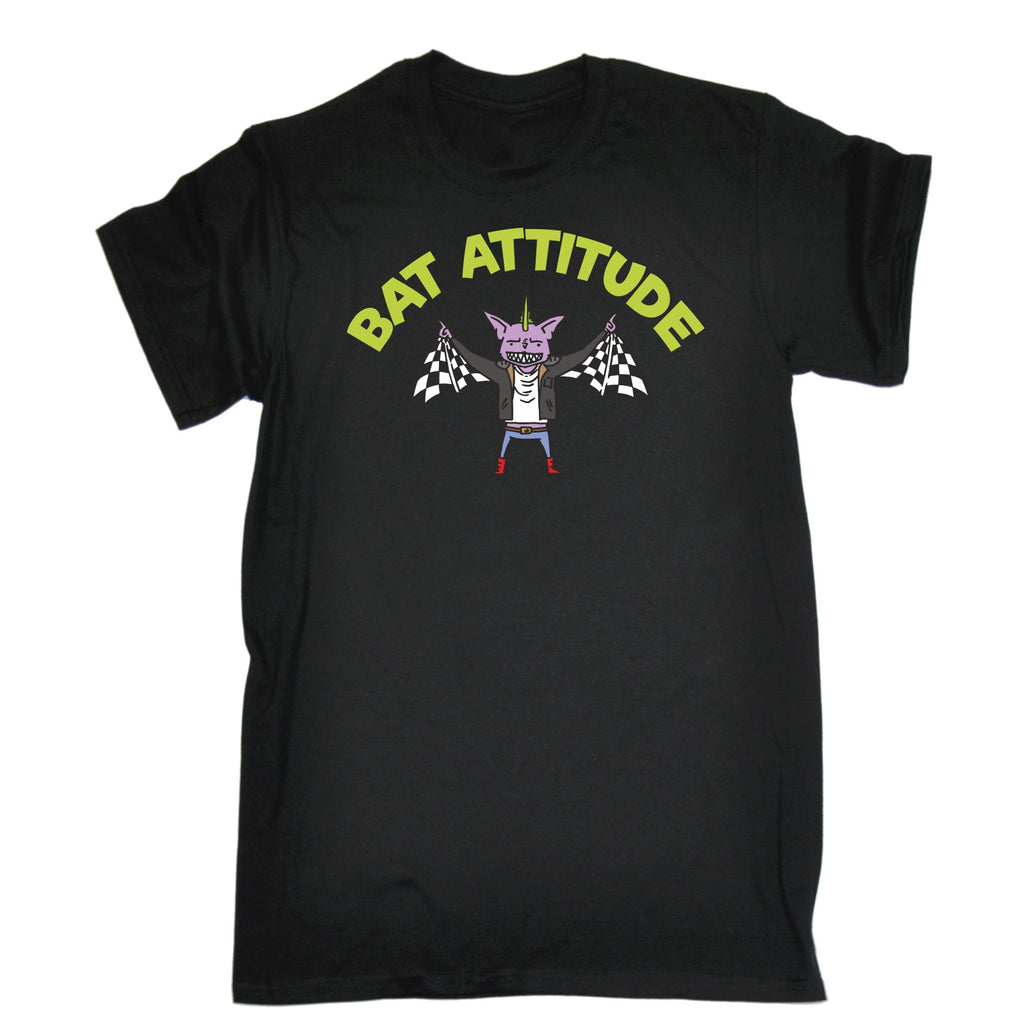 123t Kids Bat Attitude Funny T-Shirt Ages 3-13