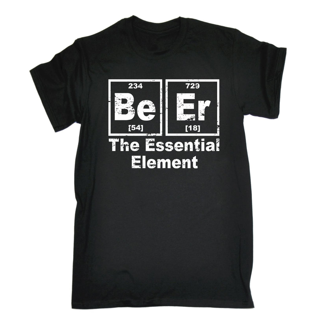 123t Men's Beer The Essential Element Funny T-Shirt