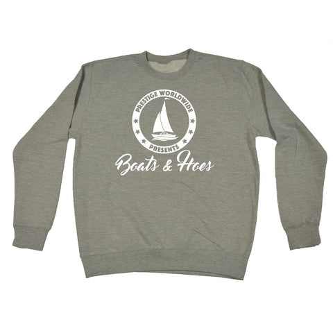 123t  Prestige Worldwide Presents Boats & Hoes - Sweatshirt Funny 123t Jumper, 123t
