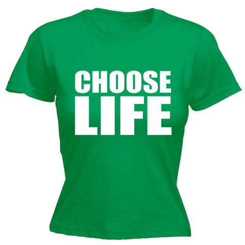 123t Women's Choose Life Funny T-Shirt