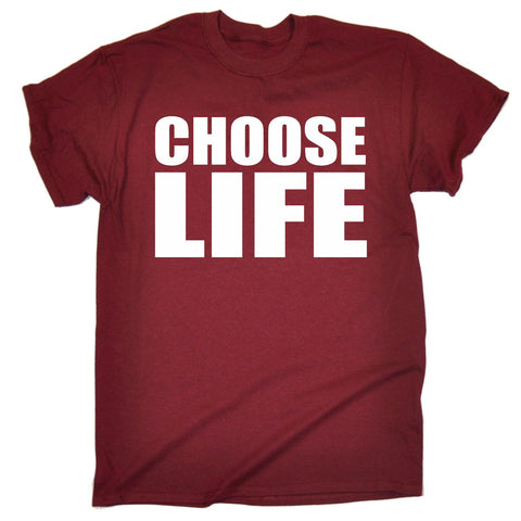 123t Men's Choose Life Funny T-Shirt