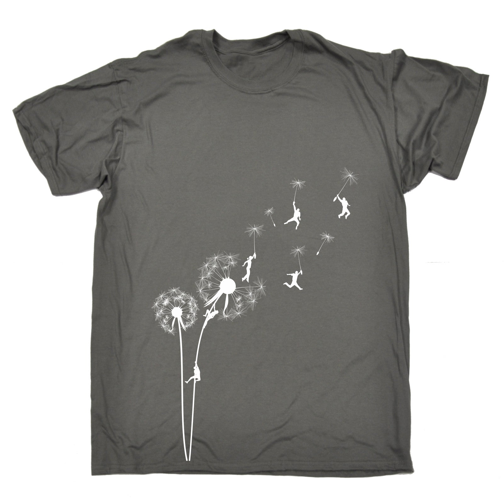 Dandelion flower graphic climbing t shirt tee seed for Graphic design t shirts uk